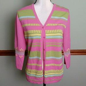 Boston Proper size large silk blend sweater